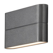 Chieri Up Down Outdoor Wall Light, Anthracite, Large