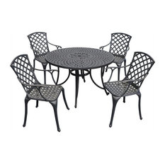 "Crosley Furniture Sedona 48"" 5 Piece Dining Set with High Back Arm Chairs"