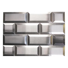 Sample of Oddysey Subway Stainless Steel Mosaic