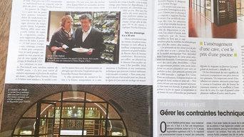 LA REVUE DU VIN DE FRANCE - wine cellar in the basement of a Norman manor