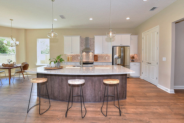 Transitional Kitchen by Pillar Construction & Remodel