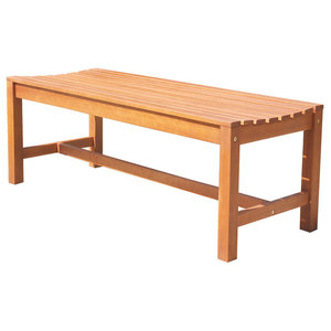 Bradley Eco Friendly 5 Backless Outdoor White Wood Garden Bench