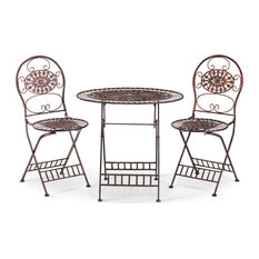 Bistro Table And Chairs Set, Brown
