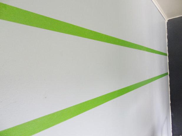 Diy apprenez peindre des rayures murales - Peindre un mur avec deux couleurs ...