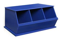 Three Bin Storage Cubby - Blue