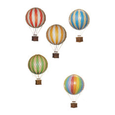 Floating the Skies Decorative Hot Air Balloon, True Green