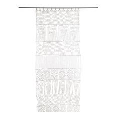 Macramé Door Curtain, White