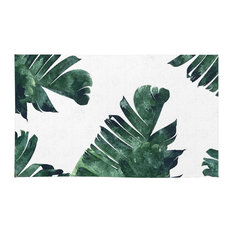 Society6 Banana Leaf Watercolor Pattern Rugs Rug 4 X6
