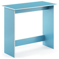 Furinno Simplistic Study Table, Light Blue and White