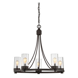 5-Light Chandelier, Oil Rubbed Bronze