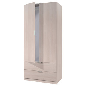 Lina Oak Combi Wardrobe With 2 Doors