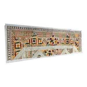 Mogul Interior - Vintage-Style Banjara Sari Mirror Work Tapestry - Table Runners