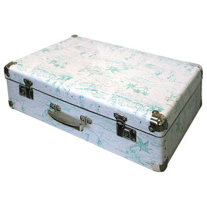 White and Green Catch a Wave Decorative Box, Large