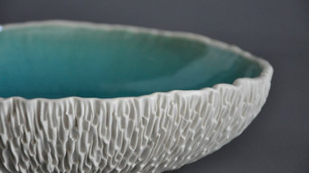 Geode Serving Bowl in Cerulean