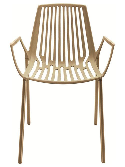 Rion Karmstol Stapelbar, Pearly Gold - Udendørs spisebordsstole
