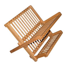 Eco-Friendly Bamboo Dish Drying Rack, 17""