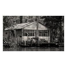 Fishing Camp Honey Island Swamp Louisiana Fine Art Black and White Photography,
