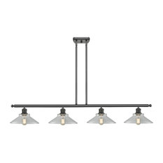 Innovations Disc 4-Light Dimmable LED Island Light, Oiled Rubbed Bronze