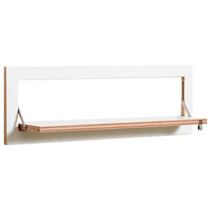 Fläpps Slim Birch Plywood Shelf, White