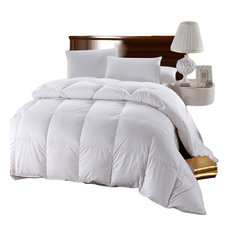 100% Cotton Solid White Down Comforter, King/Cal King