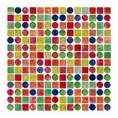 "12""x12"" Candy Jar Glass Tile, Full Sheet"