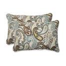 Tamara Paisley Quartz Oversized Rectangular Throw Pillow, Set of 2
