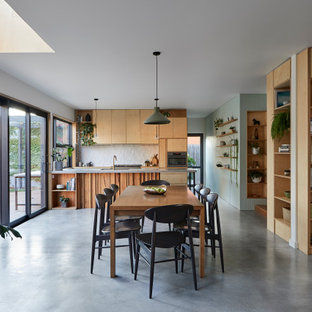 Design ideas for a contemporary dining room in Melbourne.