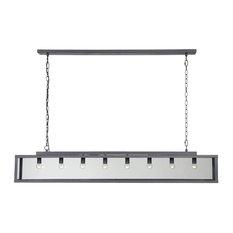 Zenia Hanging Lamp, Metal Grey, Large
