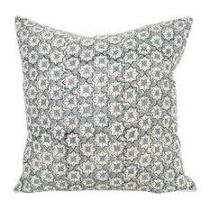- Jonquil Blue Euro Cushion - Decorative Cushions