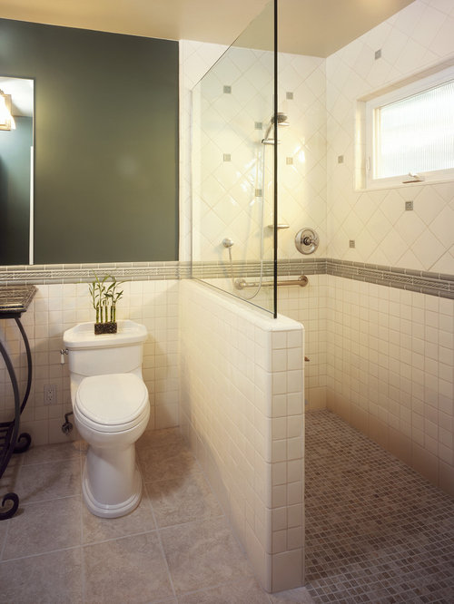 Bathroom Knee Wall glass knee wall | houzz
