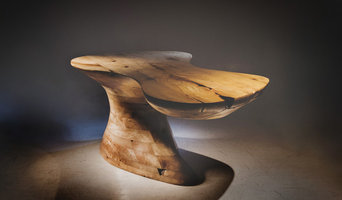 Stack laminated solid english beech feature table