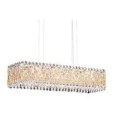 Sarella 13-Light Pendant in Heirloom Gold With Crystal Crystals From Swarovski