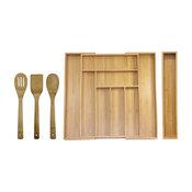 Oceanstar 5-Piece Bamboo Expandable Drawer Utensil Organizer Set
