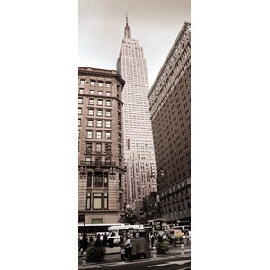 New York Empire State Skyline Photo Wall Mural, 92x220 cm