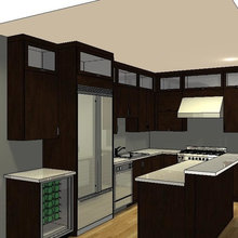 20/20 Rendering Contemporary Loft Kitchen Craft by Alan Clement