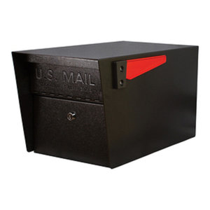 Mail Boss Mail Manager Curbside Locking Security Mailbox, Black