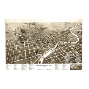 24x36 Vintage Reproduction Historic Map Richmond Indiana Wayne County 1884