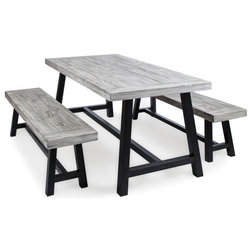 Industrial Outdoor Dining Sets by GDFStudio