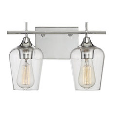 Savoy House Octave 2-Light Bath Bar, Polished Chrome