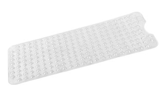 """Jumbo"" Long (16'' x 40'') Slip-Resistant Bath Tub Mat in Super Clear"