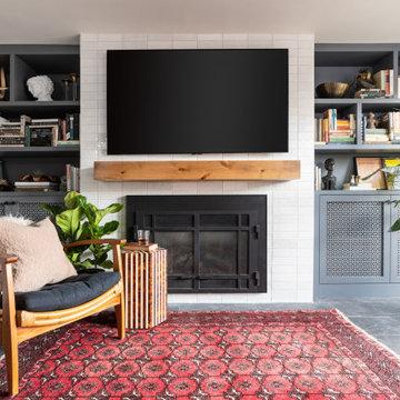 Custom Built-In Fireplace