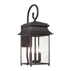 Savoy House Durham 3 Light Outdoor Wall Lights In Slate Outdoor Wall Lights