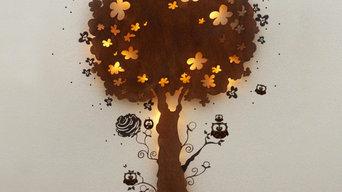 Lampe Eulenbaum Baumlampe