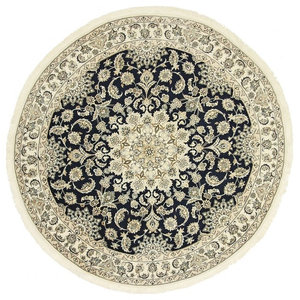 Nain 9La Persian Rug, Round Hand-Knotted Classic, 272x272 cm
