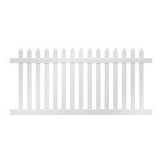 Danbury Fence Section, White, 4'x8'