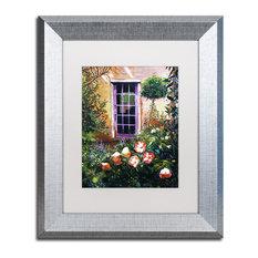"Glover 'Tuscany Villa Garden' Art, Silver Frame, 11""x14"", White Matte"