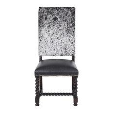 Barley Twist Cowhide Dining Chair Set Of 6