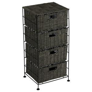 Matteo Faux Willow Large 4 Drawer Storage unit