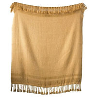 Cotton Knit Throw with Tassels