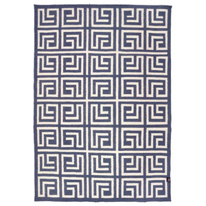 Classic Collection Labyrinth Area Rug, Stormy Weather, 200x140 cm
